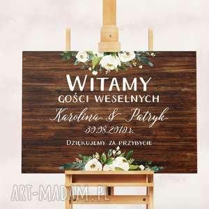Obraz powitalny 50x70 cm, plakat, obraz, kwiaty, plakat-powitalny, ślub, wesele