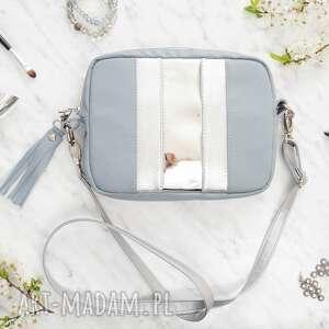 Alice box bag grey&silver torebki black pearl cat torebka na ramię, elegancka torebka,