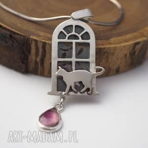 Koci wisior z turmalinem wisiorki jachyra jewellery kot, kotki