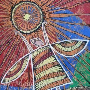 grafika anioł słońca
