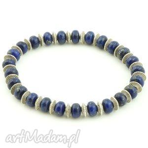 lapis lazuli męska bransoletka, lapis, lazuli, sakiewka, ozdobna męska