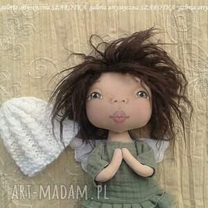 dekoracje aniołek lalka - dekoracja tekstylna, ooak, aniołek