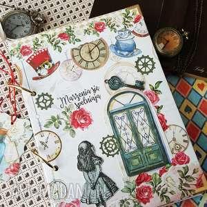 scrapbooking notesy pamiętnik/ notes /alicja w krainie czarów, alicja, pamiętnik