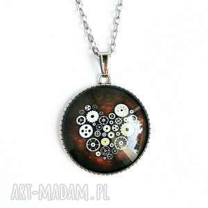naszyjniki medalion - steampunk heart duży, naszyjnik, medalion