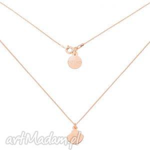 naszyjnik z różowego złota muszelką, naszyjnik, różowe, złoto, muszelka, blogerski