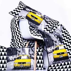 Komplet TAXI CAB 135x205cm PATCHWORK, narzuta-majunto, patchwork, taxi