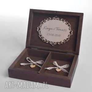 Pudełko na obrączki ślubne Rustykalne, pudełka-na-obrączki, pudełko-na-obrączki