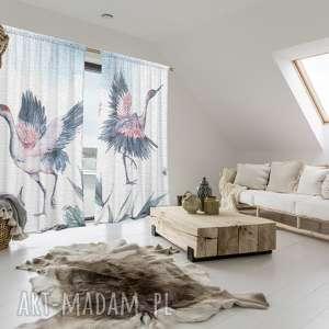 komplet bawełnianych zasłon twins, zasłony, bawełniane, ptaki, okna, dekoracje