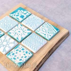 Dekor ceramiczny koronkowe kafle ceramika pracownia ako