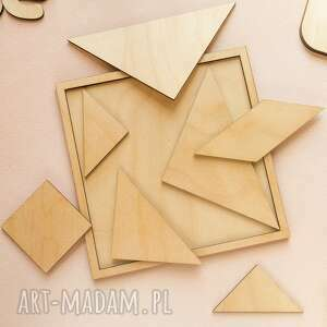 układanka, puzzle, tangram drewniany, tangram, puzzle drewniane, układanka