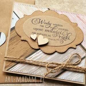 hand-made kartki kartka ślubna: wody wielkie