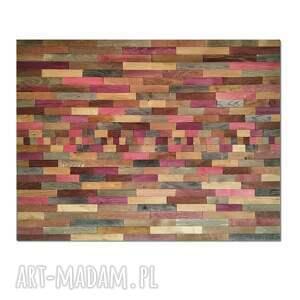 obraz z drewna, dekoracja ścienna - mozaika /4/, obraz, drewniany