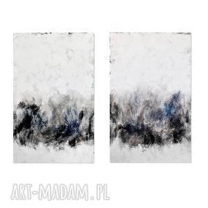 Iskallt, abstrakcja, nowoczesny obraz ręcznie malowany,