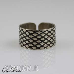 Rybia łuska - metalowa bransoletka, pierścionek, obrączka, uniwersalny, metalowy