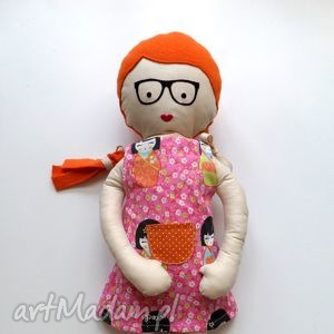 Ulala Lala - włosy rude, lalka, szmacianka