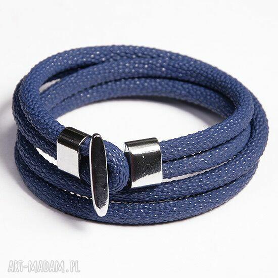 ręczne wykonanie bransoletki podwójna bransoletka niebieska