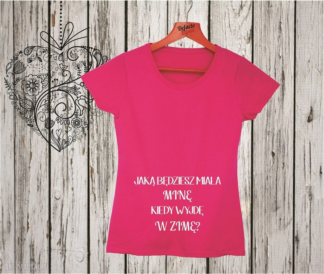 ręczne wykonanie ciążowe koszulka z nadrukiem ciążowym, dla kobiety w ciąży, mama