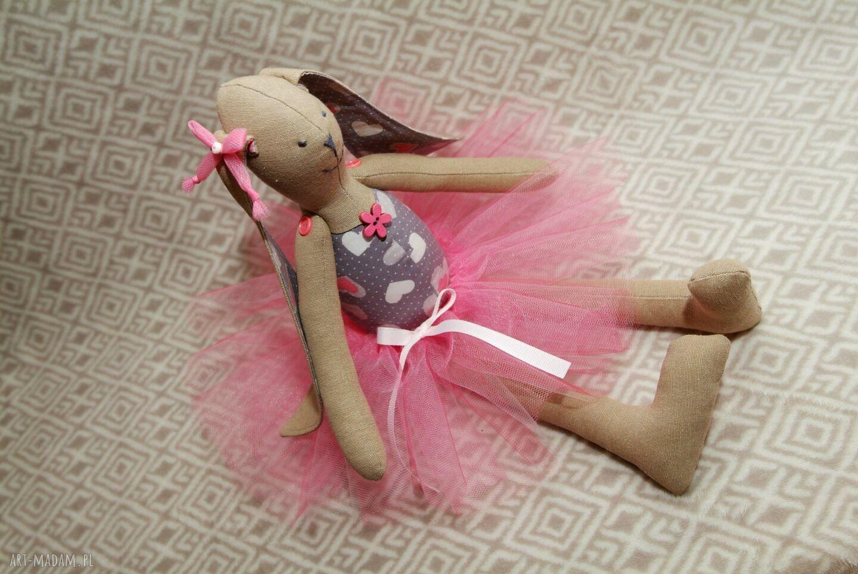 hand-made maskotki baletnica serduszko