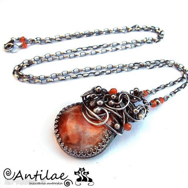 pomarańczowe naszyjniki naszyjnik monolitas - kamień słoneczny