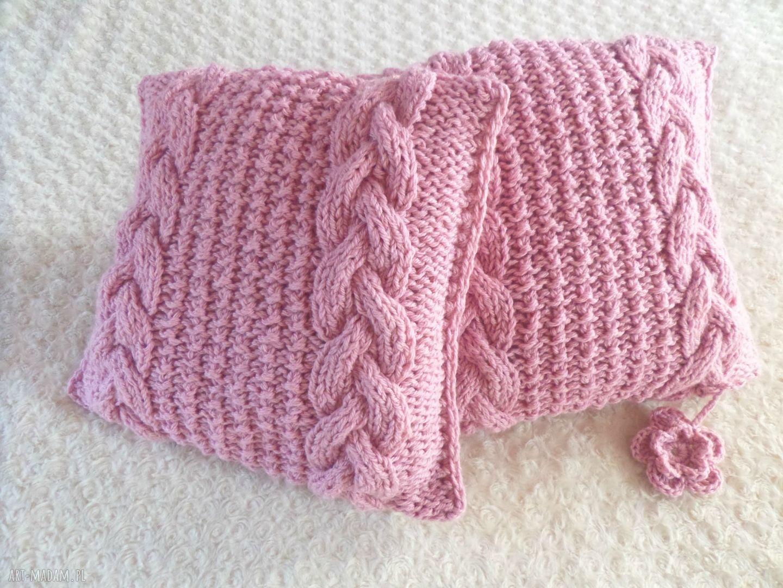 hand-made poduszki poduszki robione ręcznie wełna 40x40 cm 2szt
