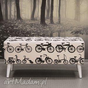 hand made dekoracje ławka white bikes