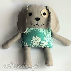 Piesek łatek - eliza 39 cm maskotki motylarnia pies, łatek