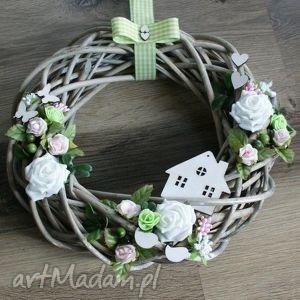 dekoracje całoroczny wianek wiklinowy na drzwi, wianek, wiklina, wiosenny