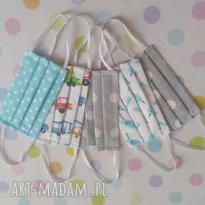 maseczki bawełniane dla dzieci pakiet 5 sztuk zestaw ii, maseczki, maski
