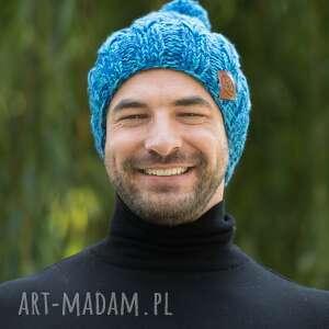 handmade czapki smile niebieskości