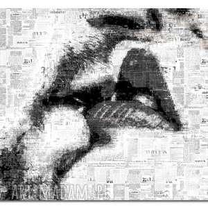 Obraz xxl usta 2 -120x70cm modern na płótnie pocałunek szary
