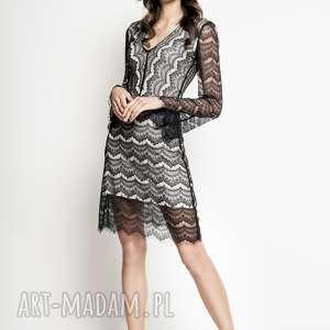 missimi - sukienka koronkowa, z wiskozy, wiskoza