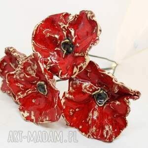 ceramika na sztuki średnie ceramiczne maki kwiaty ceramiczne
