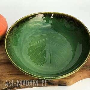 Misa ceramiczna monstera - liść ceramiczny ceramika tyka