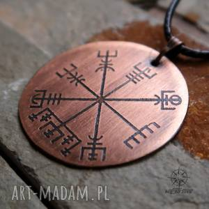 męska vegvisir - medalion wikingów cu002, vegvisir, wiking, wikingowie, runy
