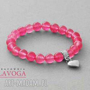lavoga jade with pendant in candy pink - jadeit, serce