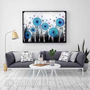 chabry 50x70, chabry, kwiaty, łąka, obraz, rysunek, ilustracja