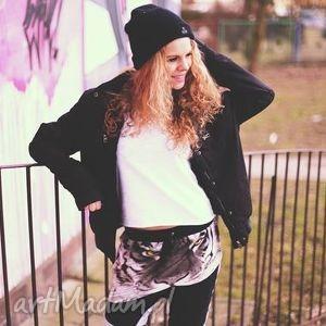 damskie spodnie full print 3d street niski krok, spodnie, zmotywem, oryginalne
