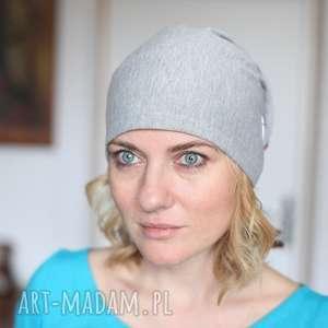 czapka damska dzianinowa mała, czapka, dresowa, sportowa, dzinina, lisy, smerfetka
