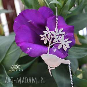 handmade wisiorki romantyczna ptaszyna
