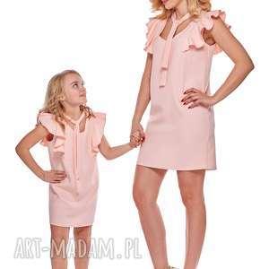 mama i córka sukienka z wiązaniem dla córki ld10 3 - falbany, tuba, mama