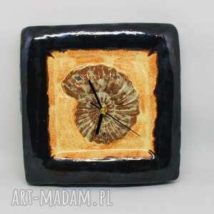 zegary ceramiczny zegar 20 cm x oryginalny prezent ozdoba wnętrza handmade