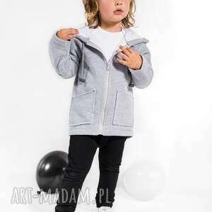 gapula bluza szara zapinana na suwak z kapturem, moda, dzieci