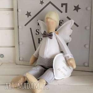 hand made lalki anioł tilda pamiątka chrztu świętego pierwszej komunii
