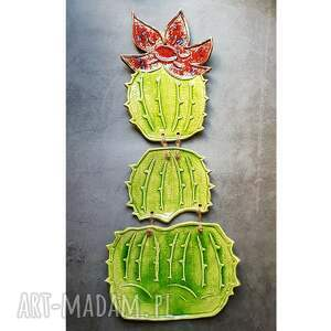 kwitnący kaktus, oryginalna dekoracja ścienna, ścienna