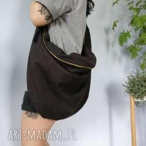 torebka worek czarna - ,zamszowa,torba,torebka,worek,plecak,oversize,