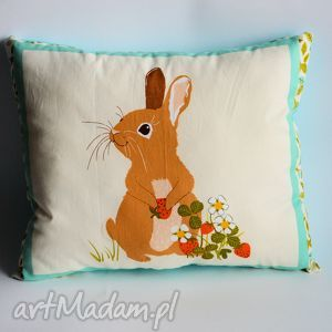 poduszka leśna - zajączek - poduszka, królik, zając, sypialnia, dziecko