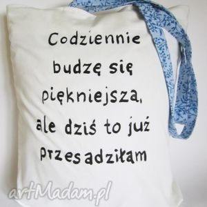 torba z ręcznie wykonanym rysunkiem/ napisem, eko, eko torba, napis, rysunek