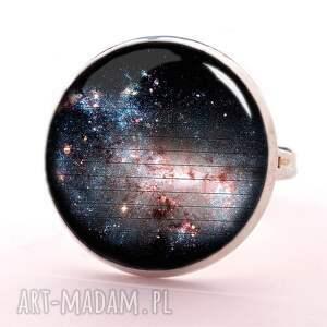galaxy - pierścionek regulowany, galaktyka, kosmiczny, prezent