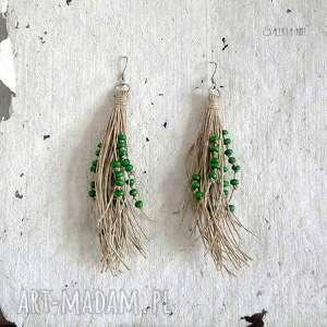 nature kolczyki zielone