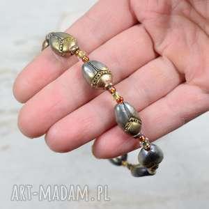 handmade bransoletka skarabeusze